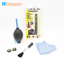 5in1 Camera Lens Dust cleaner kit LENSPEN Cleaning Pen Brush Air Blower Wipes For Canon Nikon Sony DSLR SLR Filters