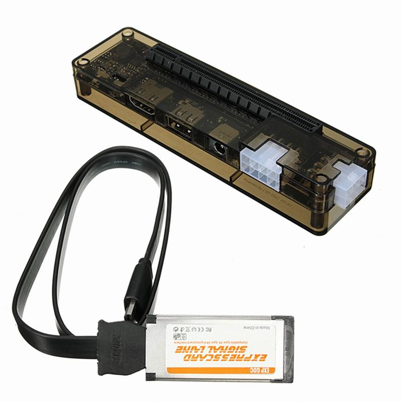 Novo-cartão expresso mini pci-e versão expresscard v8.0 exp gdc besta pcie pci-e pci portátil externo placa de vídeo independente doca