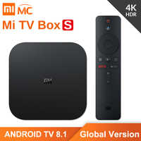 Original Global Version Xiaomi Mi TV Box S 4K HDR Android TV 2G 8G WIFI Google Cast Netflix IPTV Set top Box 4 Media Player