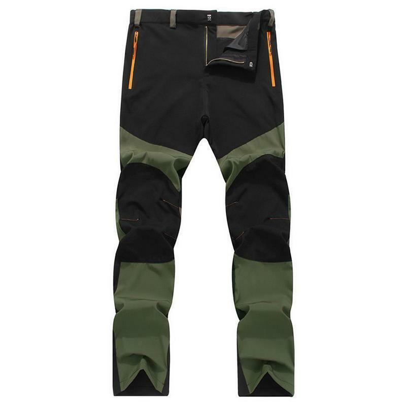 Imcute New Arrival Waterproof Outdoor Mens Camping Tactical Cargo Pants Casual Combat Trousers Patchwork  Hot