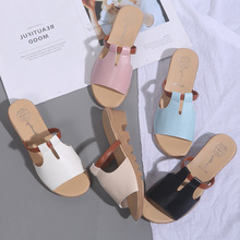 Summer Slippers Women Shoes Woman Mules Slides Open Toe Square Mid Heels Slippers Ladies Shoes flip flops zapatos mujer wetkiss new summer med heels women slippers 2018 fashion casual ladies mules shoes open toe square heels leather slides footwear