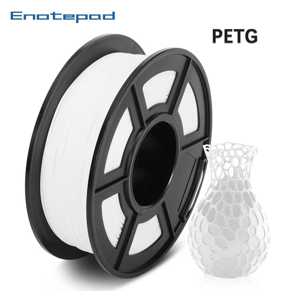 Enotepad PETG 3D Printer Filament 1 75mm 1KG 2 2lbs Spool defferent material 3D Printer Refill