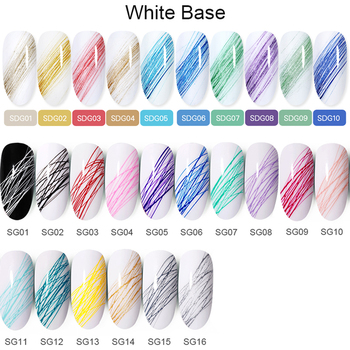 BORN PRETTY Nail Wire Drawing Gel Polish Creative Point To Line Painting Gel Polish Spider Thick Elastic Paint 5ml 27 Colors 1