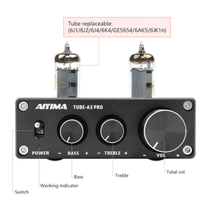 Image 3 - AIYIMA 6K4 Vakuum Rohr Verstärker Vorverstärker Bluetooth 5,0 Preamp AMP Mit Höhen Bass Ton Einstellung Für Zuhause Sound Theater