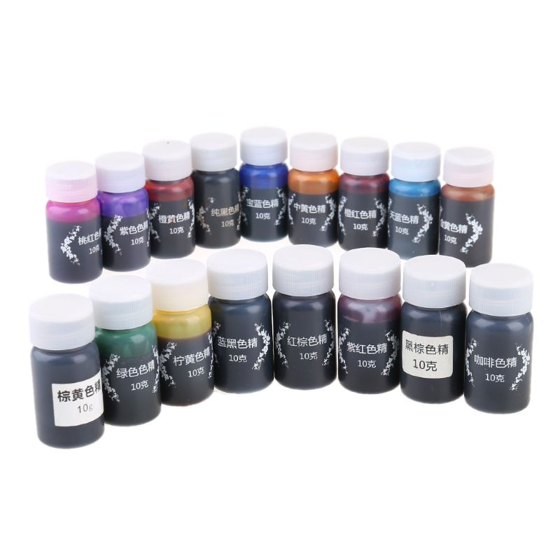 17 Pcs/Set Resin Drop Glue High Concentration Transparent Color Paste Pigment