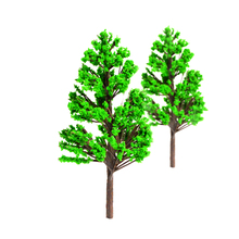 100pcs 4cm scale plastic model green trees toys ABS miniature color plants for diorama architectural forest scenery making