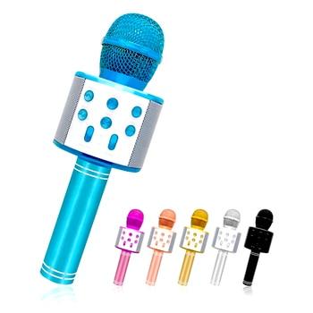 WS-858 Bluetooth Wireless Microphone Handheld Karaoke Microphone USB Mini Home KTV Music Play Singing Speaker Player bluetooth wireless microphone handheld karaoke mic usb mini home ktv for music playing singing speaker player