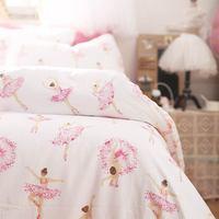 Cute cartoon dancer bedding set teen child kid girl,cotton twin full queen lovely home textile bed sheet pillow case duvet cover