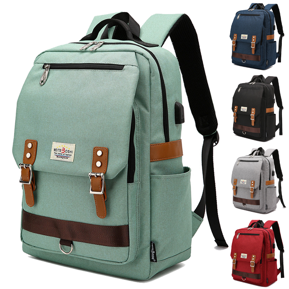 14 15 15.6 Inch With USB Interface Nylon Computer Laptop Notebook Backpack Bags Case School Backpack For Men Women Student