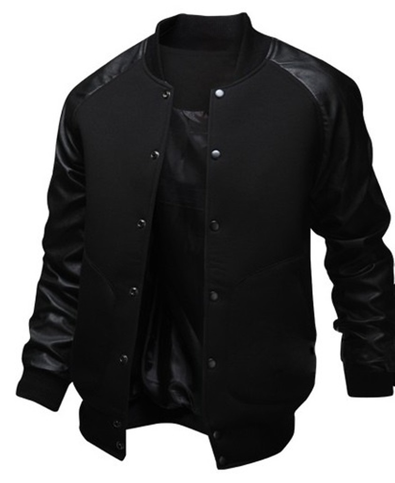 ZOGAA Mens Baseball Jacket Autumn Fashion Cool Outwear Jacket Patchwork Stand Collar Casual Slim Fit Jackets And Coats For Men