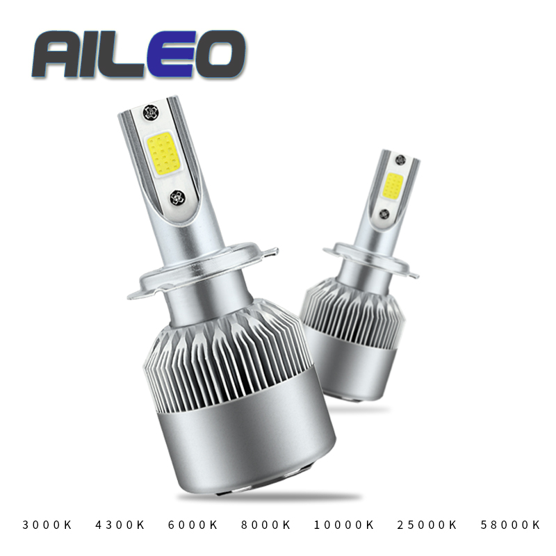 AILEO H7 LED H4 H11 H27 9005 H1 H3 9006 HIR2 H16 Auto C6 Car Headlight Bulb Car Styling 3000K 6000K Hb4 Car Light Auto Led Bulbs