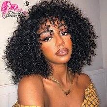 BeautyForever 13*4 koronkowa peruka malezyjski kręcone włosy koronki przodu BOB peruki 100% Remy ludzki włos krótkie peruki 180% 150% 130% gęstości