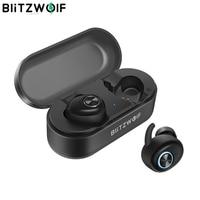 Auriculares Bluetooth, Auriculares Inalámbricos Bluetooth Sonido Estéreo Bilaterales In-Ear Bluetooth 5.0 con Caja de Carga Portátil