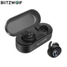 Blitzwolf BW FYE2 tws verdadeiro fone de ouvido sem fio, fone de ouvido bluetooth 5.0, hi fi estéreo, som bilateral, ligação portátil, mini fones de ouvido esportivo