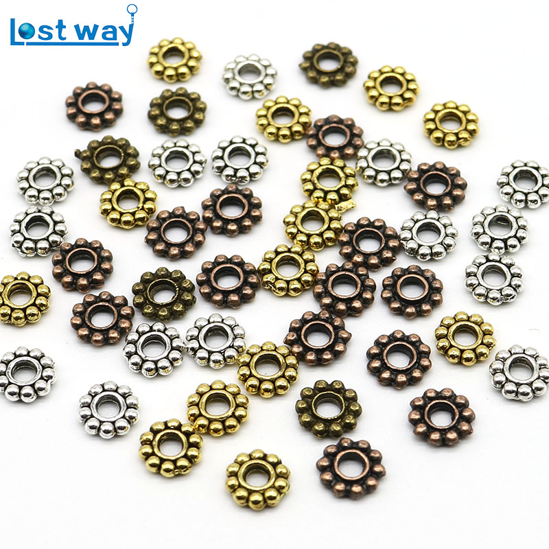 Gold Plated Daisy Spacer Beads Jewellery Craft Bead Findings 4mm 5mm /& 6mm ML