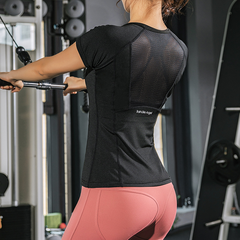 Quick Dry Fitness T-Shirt Sport Top Gym Clothes Yoga Shirt Workout Tops For Women Fitness