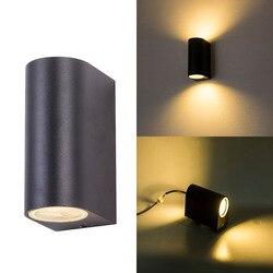 Zewnętrzne oświetlenie naścienne Led IP65 lampka na ganek na ścianę oświetlenie dekoracyjne kinkiety Gu10 kinkiety korytarz Exteriores Lamparas w górę w dół