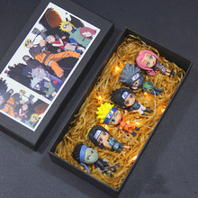 Naruto Hand-made Model Complete Set of Dolls Q Edition Naruto Sasuke Kakashi I Love Royal Weaver Gift Box glass film 7 inch touch screen 100% new for bq 7008g clarion 3g bq 7008g touch panel tablet pc touch panel digitizer