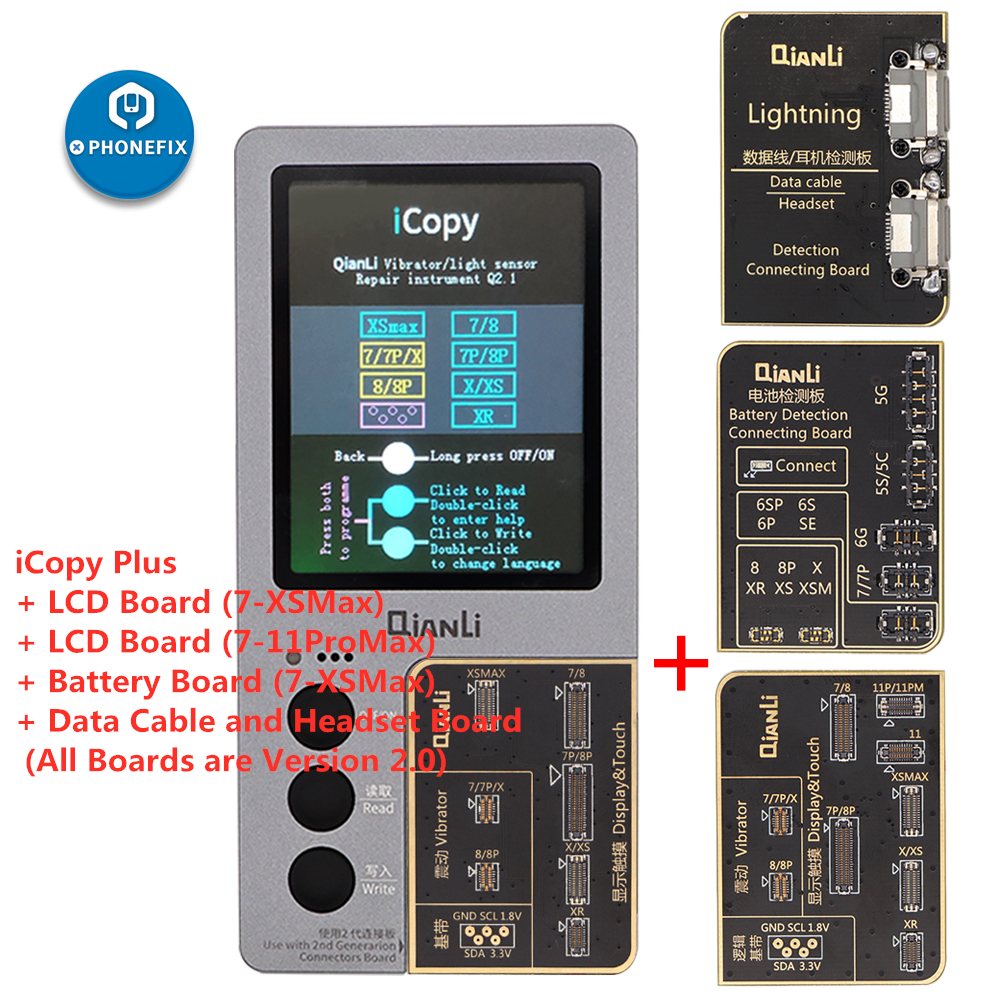 Qianli ICopy Plus With Battery Testing Board For IPhone 7/8/8P/X/XR/XS/XS MAX/11 Pro Max LCD/Vibrator Transfer EEPROM Programmer