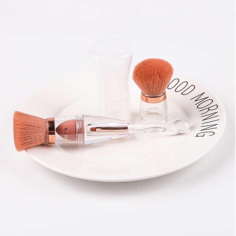 Brosse cosmétique 3 en 1 avec couvercle de tête de remplacement pinceaux de maquillage de Style cristal ensemble outils de Kit de pinceau de fard à joues de maquillage professionnel