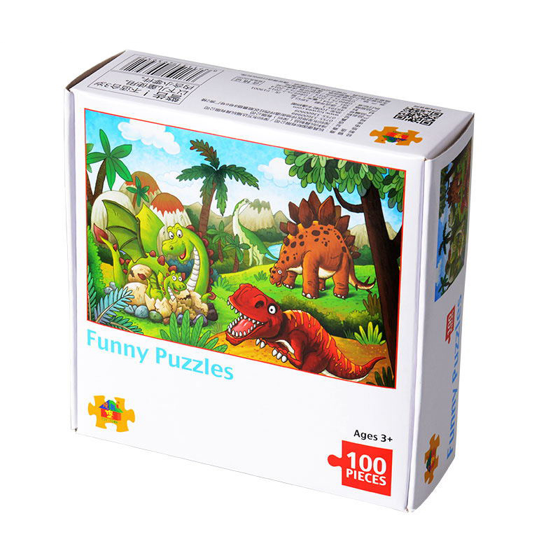 48/100 Pieces Kids Puzzle Jigsaw Jurrassic Dinosaur Wooden Puzzles Educational Toys For Children Animation Pairing Puzzles Gift