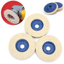 4 дюйма 100 мм искусственная шерсть колеса искусственная шерсть полировка колеса зеркальное стекло полировка лист искусственная шерсть мельница войлочное колесо