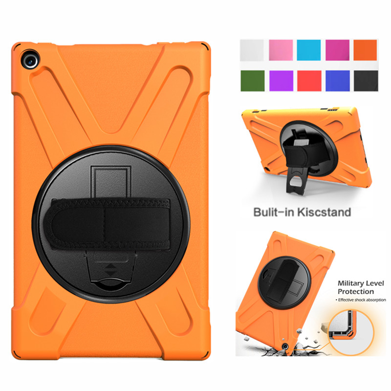 <font><b>Tablet</b></font> <font><b>Case</b></font> For for Amazon Fire HD 10 2017 <font><b>Case</b></font> Cover Funda <font><b>Kids</b></font> Safe Shockproof Heavy Duty Silicone Hard Hand Stand Holder image