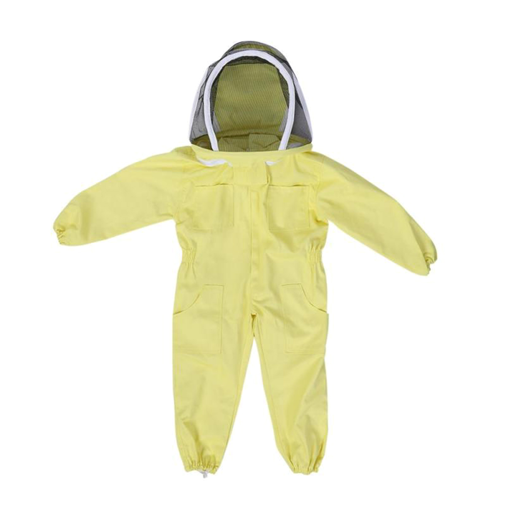 Children Kids Protective Clothing Dust-proof Anti-Virus Protection Clothing Safety Coverall Disposable Suit Yellow Coveralls