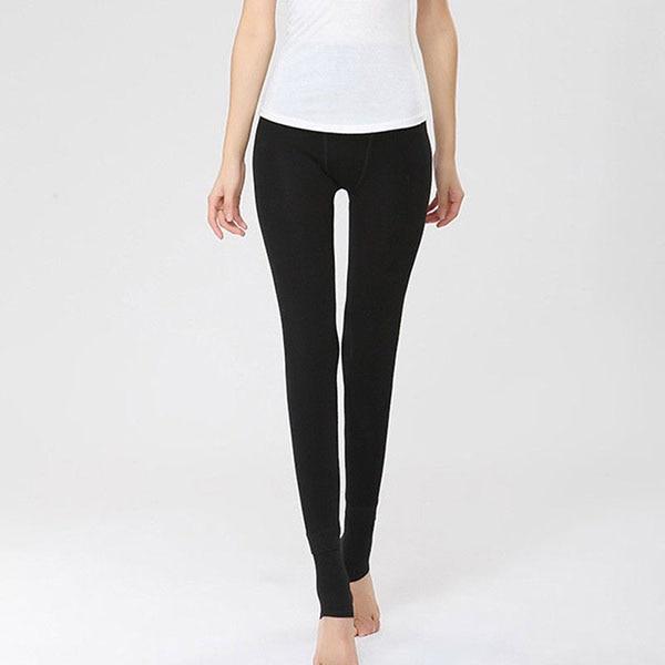 Women Heat Fleece High Waist Winter Stretchy Leggings Warm Fleece Lined Slim Thermal Pants Regular Size LXH