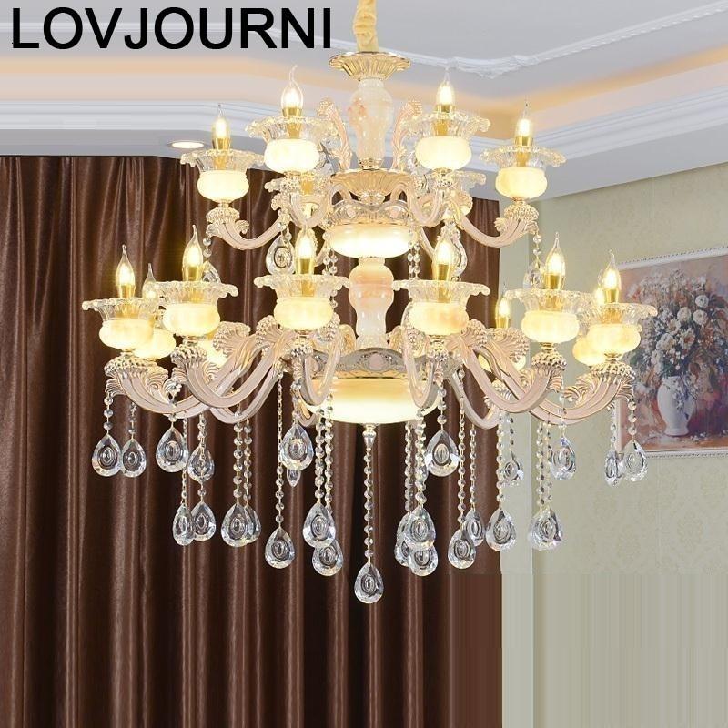 E Para Sala De Jantar Cuisine Dining Room Lustre Pendente Deco Maison Crystal Light Suspension Luminaire Suspendu Hanglamp