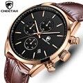 2021 новые мужские часы Гепард водонепроницаемые кварцевые мужские часы хронограф спортивные наручные часы кожаные деловые мужские часы с к...