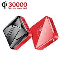 30000mAh Power Bank caricabatterie Wireless Powerbank portatile Mini batteria esterna caricabatterie rapido per Xiaomi iPhone