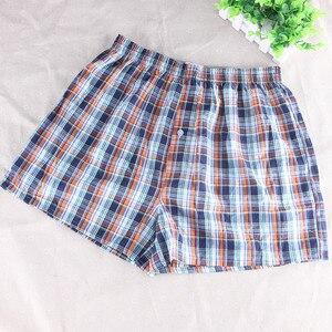 Image 5 - 8 قطعة ملابس داخلية للرجال الملاكمين السراويل ملابس نوم قطنية غير رسمية جودة منقوشة فضفاضة مريحة Homewear مخطط السهم سراويل داخلية