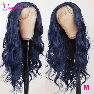 Vanlov 13x4 Brazilian Body Wave Lace Front Human Hair Wigs 150% Green Blue Pink Orange Color Remy Human Hair Wigs Pre Plucked