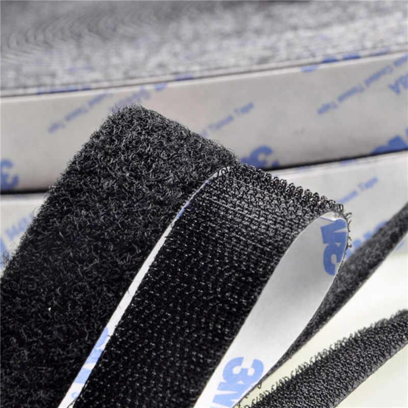 Gancho y lazo Autoadhesivo fuerte de 1M con Cinta ajustable adhesivo Autoadhesivo Velcros con pegamento para bricolaje 16/20/25/30/38/50mm