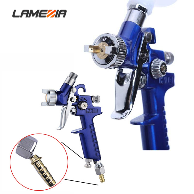 LAMEZIA 0.8MM/1.0MMNozzle Mini Paint Spray Gun HVLP For Painting Car High Atomization H 2000 Airbrush Aerograph Pneumatic Tool|Spray Guns|Tools - title=
