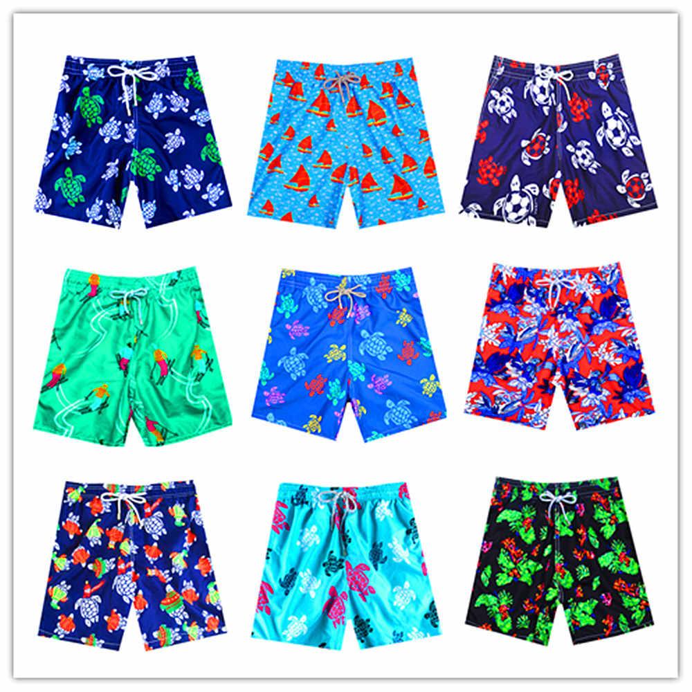 Весна Лето 2020 бренд Brevile pullquin пляжные обшитые мужские шорты Черепашки купальники для взрослых парусник boardкороткая эластичная лента шорты