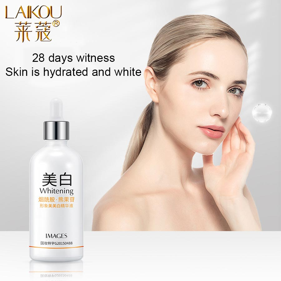 LAIKOU Nicotinamide Face Serum Whitening Essence Hyaluronic Acid Moisturizing Anti-Aging Anti-Wrinkle Shrink Pores Skin Care