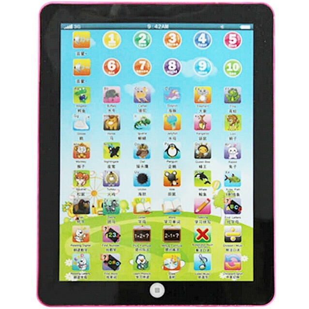 CHILDREN PAD FOR CHILDREN KID LEARNING ENGLISH EDUCATIONAL COMPUTER MINI TABLET TOY BNO2294 High Quality
