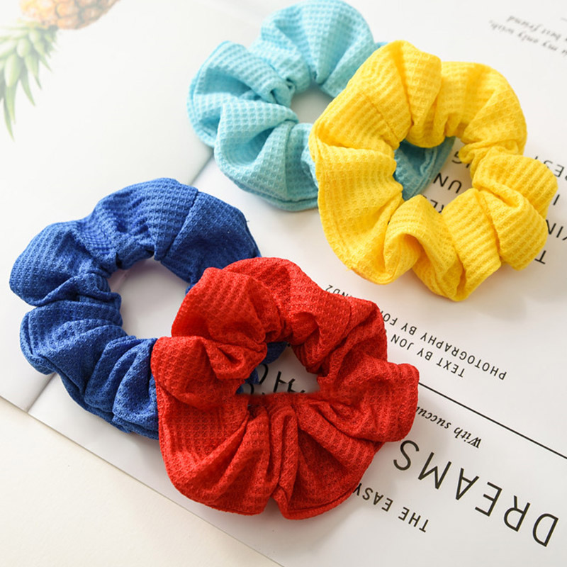 New Solid Color Women Elastic Hair Ring Rubber Bands Sweet Girls Hair Ties Scruniche Ponytail Holder Hair Bands Hair Accessories
