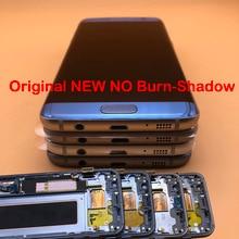5.5 המקורי חדש ללא לשרוף צל LCD תצוגה עם מסגרת לסמסונג גלקסי s7 קצה SM G935 G935F G935FD LCD מסך מגע