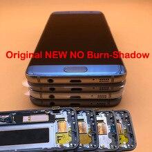 5.5 OEM nouveau sans brûlure ombre écran LCD avec cadre pour SAMSUNG Galaxy s7 bord SM G935 G935F G935FD LCD écran tactile