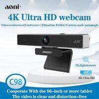 Aoni C98 HD webcam 4k autofokus Für Video Konferenz streaming Aufnahme mit mikrofon, 5X Digital Zoom Web Kamera für computer