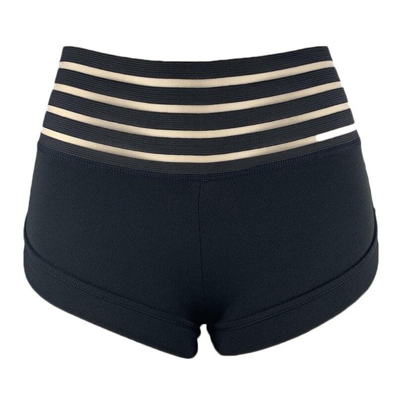 Fashion New Ass Pocket Sports Shorts Summer High Waist Striped Sports Shorts Woman
