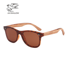 Tortoiseshell sunglasses 2019 Luxury Fashion polarized UV400 Zebra wood