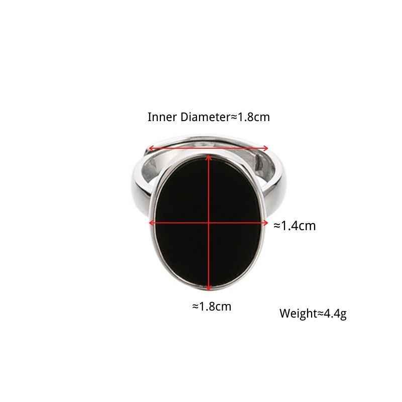 Anenjery 빈티지 불규칙한 부드러운 잠금 체인 타이어 실버 반지 925 스털링 실버 조절 가능한 크기의 반지 보석 도매 S-R589