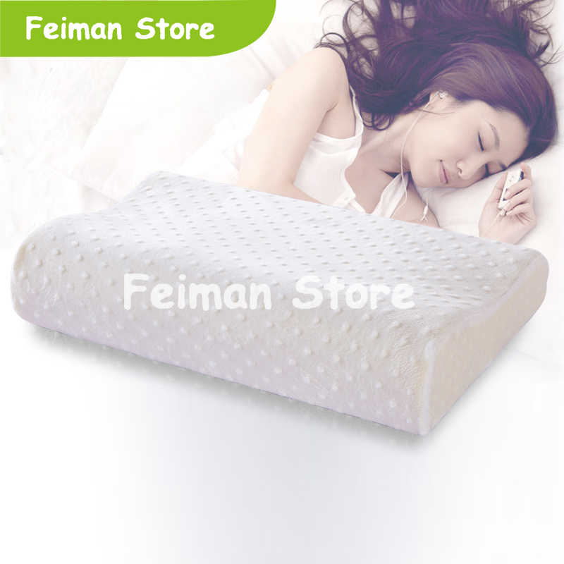 Memory Foam Pillow 4 Sizes Orthopedic Pillow Latex Neck Pillow Fiber Slow Rebound Soft Pillow Massager For Cervical Health Care