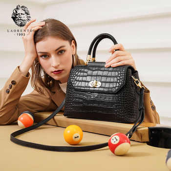 Laorentou Brand High Fashion Women Qualities Handbags Lady Alligator Vintage Crossbody Bag Female Elegant Shoulder Bag - Category 🛒 Luggage & Bags
