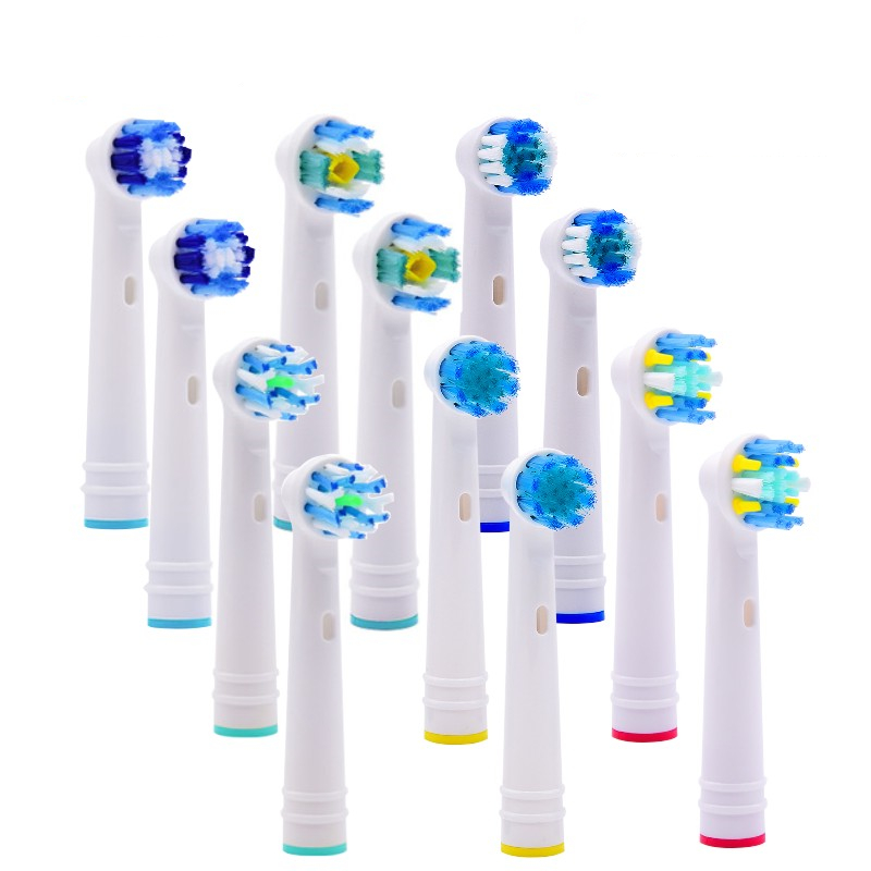 4pcs Replacement Toothbrush Heads Soft Bristle For Oral B Electric Advance Power/Pro Health/3D Excel/Vitality Precision Clean image