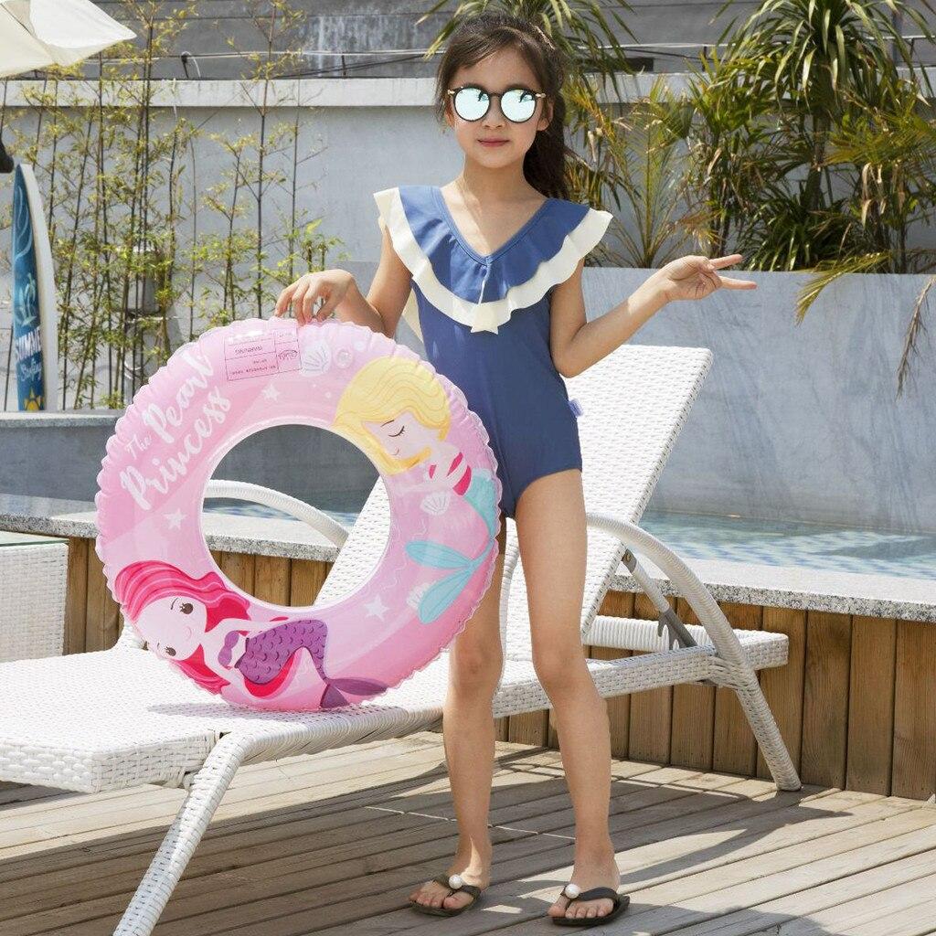 Cartoon Children Swimming Ring Colorful Alphabet Pattern Water Ring PVC Toddler Child Swimming Ring Princess